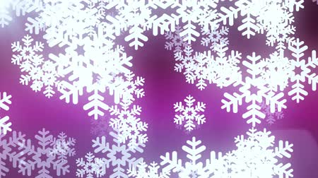 фантастический : floating large snowflake animation background - New quality shape universal motion dynamic animated colorful joyful holiday music video footage Стоковые видеозаписи