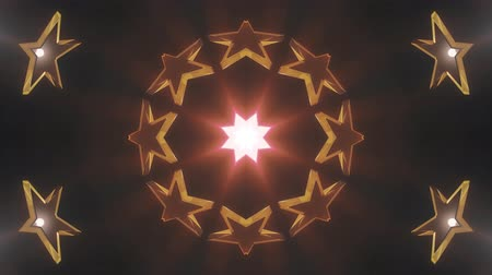 ismétlés : ornamental geometric kaleidoscope stars moving pattern animation seamless loop New quality retro vintage holiday shape colorful universal motion dynamic animated joyful dance music video footage
