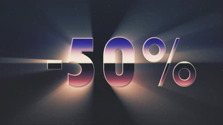 rolety : shiny retro 80s style sale discount lazer text fly in and out on stars animation background -new unique vintage beautiful dynamic joyful colorful video footage