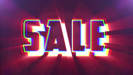 metka : shiny colorful Sale text jumping seamless loop light animation - new quality retro vintage motion joyful addvertisement commercial video footage