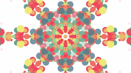 ismétlés : ornamental geometric kaleidoscope flower moving pattern - New quality retro vintage holiday shape colorful universal motion dynamic animated joyful music video footage