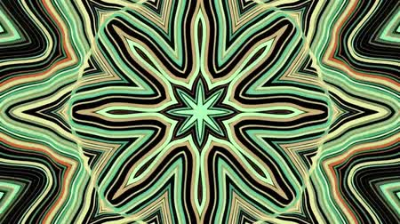 ismétlés : ornamental geometric kaleidoscope ethnic tribal psychedelic pattern animation - New quality retro vintage holiday native shape colorful universal motion dynamic animated joyful music video footage Stock mozgókép