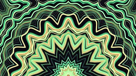 row : ornamental geometric kaleidoscope ethnic tribal psychedelic pattern animation - New quality retro vintage holiday native shape colorful universal motion dynamic animated joyful music video footage Stock Footage