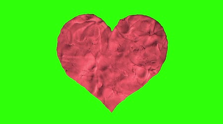 trail marker : stop motion clay heart shape cartoon animation seamless loop chroma key green screen background ... New quality universal grunge vintage motion dynamic animated colorful joyful cool video footage