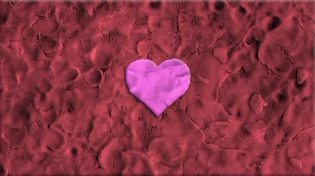 универсальный : stop motion clay heart shape dynamic zoom cartoon animation seamless loop background ... New quality universal grunge vintage motion dynamic animated background colorful joyful cool video Стоковые видеозаписи