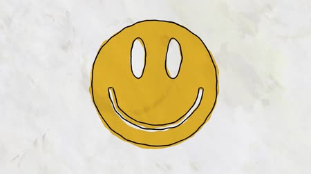 tahy : drawn grunge smile face cartoon handmade animation seamless loop background ... New quality universal vintage stop motion dynamic animated colorful joyful cool video footage
