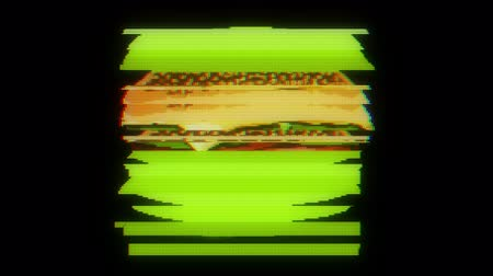 jíst : drawn marker pixel burger glitch cartoon handmade animation seamless loop lcd screen background ... New quality universal vintage stop motion dynamic animated colorful joyful cool video footage