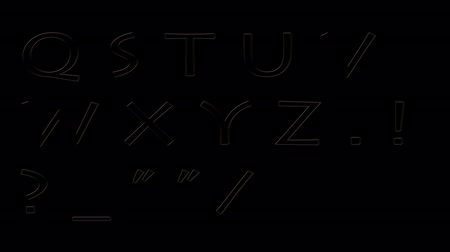 szkic : soft blinking and flickering neon font all letters and numbers isolated on background - new quality dynamic cartoon joyful colorfool text footage Wideo