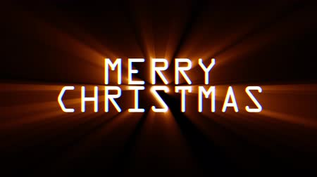 pozdrav : merry christmas words glitch interference noise light rays effect close up seamless loop animation background - new quality retro vintage modern futuristic wording typography video footage