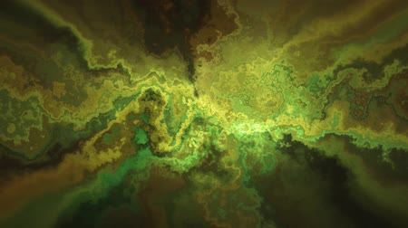 diamantes : Natural beautiful marble turbulent pattern yellow green texture animation background - new unique quality colorful joyful motion dye effect wave dynamic holiday mineralogy science mining video footage Stock Footage