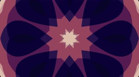 row : ornamental geometric block kaleidoscope star moving pattern animation seamless loop New quality retro vintage holiday shape colorful universal motion dynamic animated joyful dance music video footage Stock Footage