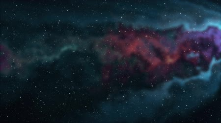 hluboký : soft moving nebula space stars night sky animation background new quality nature scenic school cool education colorful light video footage