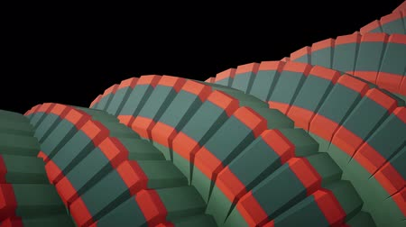 żelazko : snake worm spine like 3d native striped gears rotating mechanism seamless loop abstract animation background new quality colorful cool nice beautiful video footage