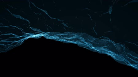 blue braid : soft water silk gentle flow and waving digital simulation turbulent abstract animation background new quality dynamic art motion colorful cool nice beautiful video footage
