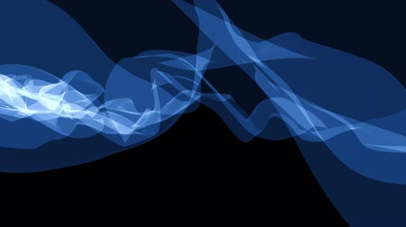 blue braid : soft silk smoke blue ribbon gentle flow waving digital simulation turbulent abstract animation background new quality dynamic art motion colorful cool nice beautiful 4k video footage