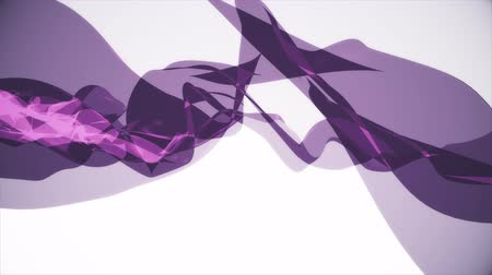 światłowód : soft silk smoke purple ribbon gentle flow waving digital simulation turbulent abstract animation background new quality dynamic art motion colorful cool nice beautiful 4k video footage