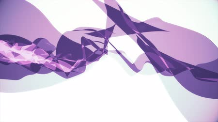 acetinado : soft silk smoke purple ribbon gentle flow waving digital simulation turbulent abstract animation background new quality dynamic art motion colorful cool nice beautiful 4k video footage