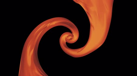 caramel splash : caramel paint leak surreal spiral slow motion animation background new quality motion graphics retro vintage style cool nice beautiful 4k video footage Stock Footage