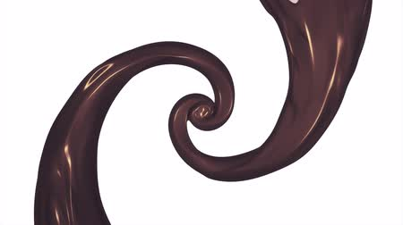 caramel splash : caramel chocolate paint leak surreal spiral slow motion animation background new quality motion graphics retro vintage style cool nice beautiful 4k video footage Stock Footage