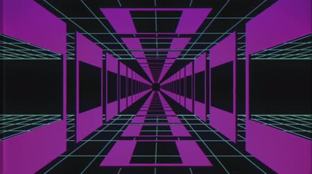 lif : endless flight through retro style cyber purple grid tunnel effect motion graphics animation background new quality futuristic vintage cool nice beautiful video footage
