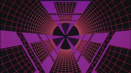 bending : endless flight through retro style cyber purple tunnel effect motion graphics animation background new quality futuristic vintage cool nice beautiful video footage