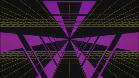 adatbázis : endless flight through retro style cyber purple tunnel effect motion graphics animation background new quality futuristic vintage cool nice beautiful video footage