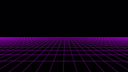 rysunek techniczny : SIDE flight retro cyberspace grid net polygonal wireframe plain landscape seamless loop drawing motion graphics animation background new quality vintage style cool nice beautiful 4k video footage Wideo