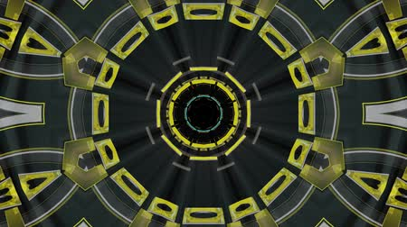 adatbázis : Flight in out through block neon lights kaleidoscopic abstract cyber tunnel motion graphics animation background loop new quality retro futuristic vintage style cool nice beautiful video footage