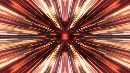 miscellaneous : bright symmetrycal hyperspace lights cyber tunnel motion graphics animation background new quality futuristic cool nice beautiful video footage