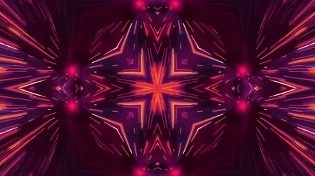 kalejdoskop : ornamental shiny light rays kaleidoscope ethnic tribal psychedelic pattern animation abstract background New quality retro vintage holiday native colorful motion dynamic joyful music video Wideo