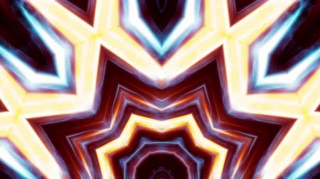 cristal : ornamental shiny crystal light rays kaleidoscope ethnic tribal psychedelic pattern animation abstract background New quality retro vintage holiday native colorful motion dynamic joyful music video