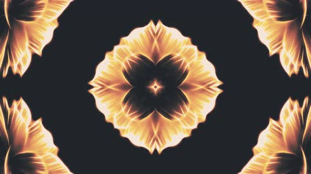 cristal : ornamental blooming flower kaleidoscope moving pattern animation background - New quality holiday shape colorful universal motion dynamic animated joyful cool nice music video footage