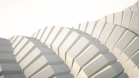 car logo : snake worm spine like 3d gears rotating mechanism seamless loop abstract animation background new quality colorful cool nice beautiful video footage Stock Footage