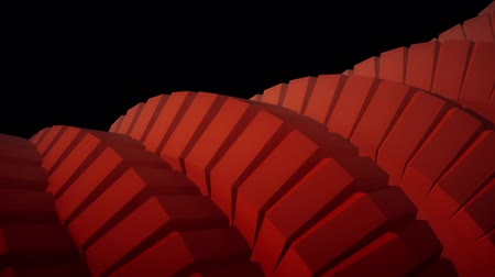 cobra : snake worm spine like 3d gears rotating mechanism seamless loop abstract animation background new quality colorful cool nice beautiful video footage Vídeos