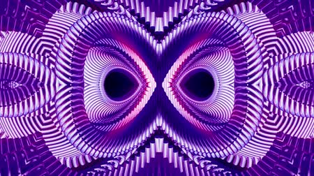 cristal : shiny ornamental purple metal chain kaleidoscope seamless loop pattern animation abstract background New quality ethnic tribal holiday native universal motion dynamic cool nice joyful music video Stock Footage