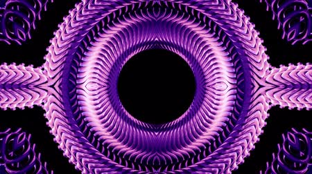 wierd : shiny ornamental purple metal chain kaleidoscope seamless loop pattern animation abstract background New quality ethnic tribal holiday native universal motion dynamic cool nice joyful music video Stock Footage