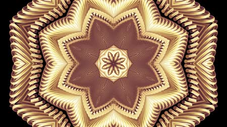 kalejdoskop : ornamental gold metal chain kaleidoscope seamless loop pattern animation abstract background New quality ethnic tribal holiday native universal motion dynamic cool nice joyful music video