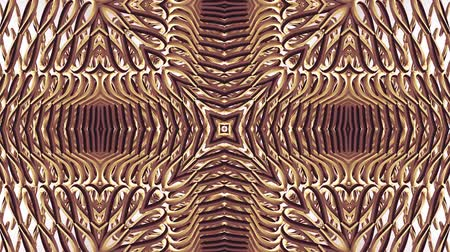 cristal : ornamental gold metal chain kaleidoscope seamless loop pattern animation abstract background New quality ethnic tribal holiday native universal motion dynamic cool nice joyful music video