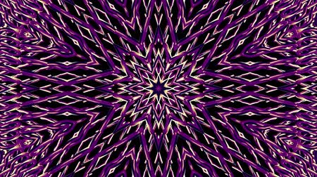 kavisli : shiny ornamental purple metal chain kaleidoscope seamless loop pattern animation abstract background New quality ethnic tribal holiday native universal motion dynamic cool nice joyful music video Stok Video