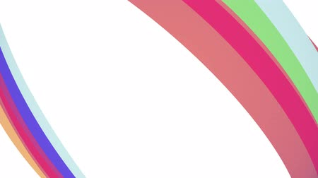 bumps : Soft colors flat 3D diagonal rainbow frame curved candy line seamless loop abstract shape animation background new quality universal motion dynamic animated colorful joyful video footage Stock Footage