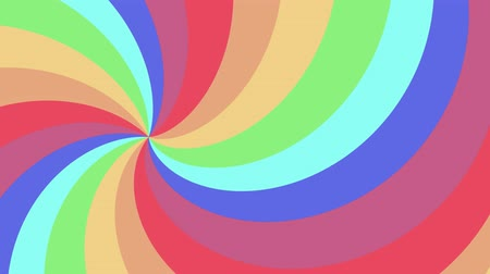 infinito : Spiral shape rainbow colors seamless loop rotation animation background new quality universal motion dynamic animated colorful joyful cool nice video footage Stock Footage