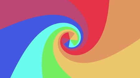 kavisli : Spiral shape rainbow colors seamless loop rotation animation background new quality universal motion dynamic animated colorful joyful cool nice video footage Stok Video