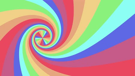bükülme : Spiral shape rainbow colors seamless loop rotation animation background new quality universal motion dynamic animated colorful joyful cool nice video footage Stok Video