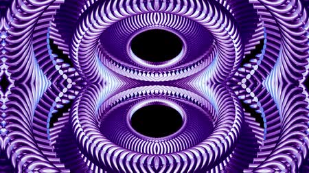 fayans : shiny ornamental purple metal chain kaleidoscope seamless loop pattern animation abstract background New quality ethnic tribal holiday native universal motion dynamic cool nice joyful music video Stok Video