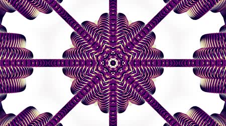 mosaic ornament : shiny ornamental purple metal chain kaleidoscope seamless loop pattern animation abstract background New quality ethnic tribal holiday native universal motion dynamic cool nice joyful music video Stock Footage