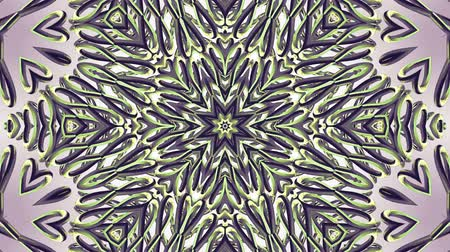 cristal : shiny ornamental green metal chain kaleidoscope seamless loop pattern animation abstract background New quality ethnic tribal holiday native universal motion dynamic cool nice joyful music video