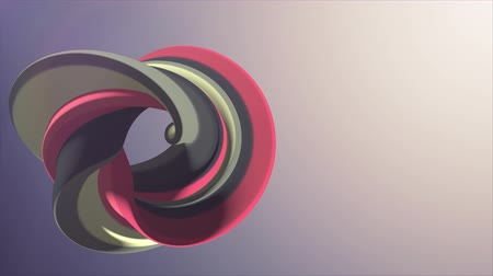 karamel : Soft colors 3D curved rainbow donut marshmallow candy seamless loop abstract shape animation background new quality universal motion dynamic animated colorful joyful video footage