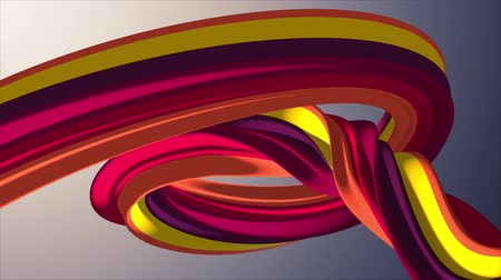 karamel : Soft colors 3D curved marshmallow rope candy seamless loop abstract shape animation background new quality universal motion dynamic animated colorful joyful video footage