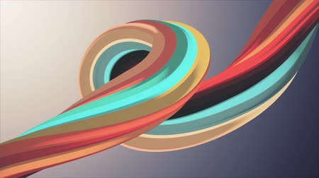 bükülme : Soft colors 3D curved marshmallow rope candy seamless loop abstract shape animation background new quality universal motion dynamic animated colorful joyful video footage