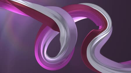 karamel : Soft colors 3D curved purple marshmallow rope candy seamless loop abstract shape animation background new quality universal motion dynamic animated colorful joyful video footage